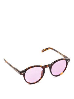 MOSCOT: occhiali da sole - Occhiali Miltzen tortoise con lenti viola.