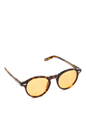 MOSCOT: occhiali da sole - Occhiali Miltzen tortoise con lenti tonde.