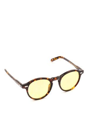 MOSCOT: occhiali da sole - Occhiali Miltzen tortoise con lenti gialle.