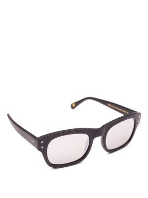 MOSCOT: occhiali da sole - Occhiali rettangolari Nebb in acetato opaco
