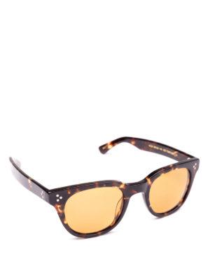 MOSCOT: occhiali da sole - Occhiali Vilda gialli in acetato tartaruga