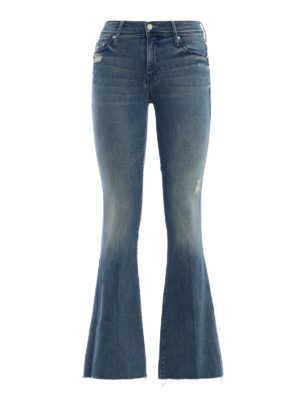 Mother: flared jeans - Frayed denim flared jeans
