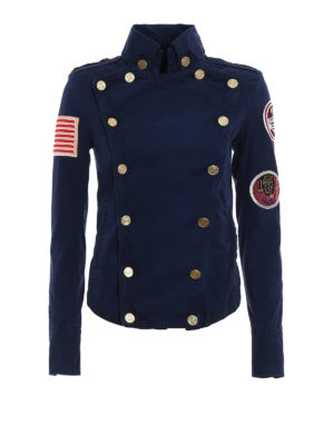 Mr & Mrs Italy: casual jackets - Embroidered canvas army jacket