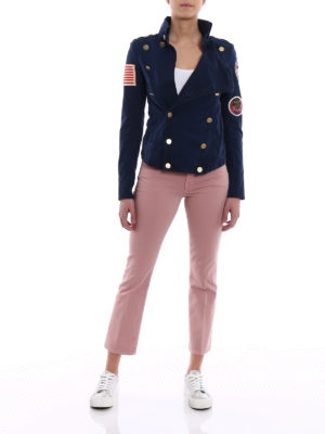 Mr & Mrs Italy: casual jackets online - Embroidered canvas army jacket