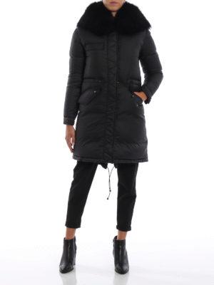 Mr & Mrs Italy: cappotti imbottiti online - Piumino opaco con pelliccia sul cappuccio