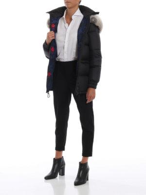 Mr & Mrs Italy: giacche imbottite online - Piumino con cintura e pelliccia staccabili