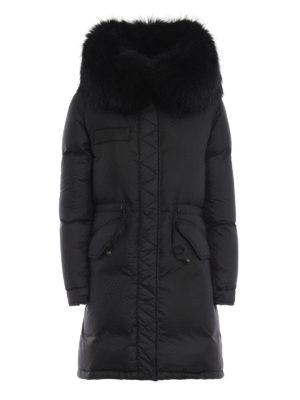 Mr & Mrs Italy: cappotti imbottiti - Piumino opaco con pelliccia sul cappuccio