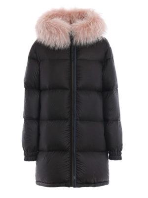 Mr & Mrs Italy: cappotti imbottiti - Piumino boxy reversibile con pelliccia rosa