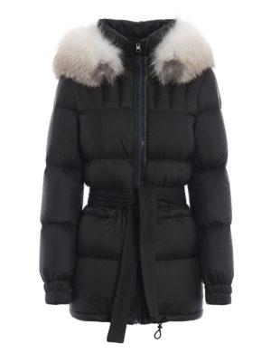 Mr & Mrs Italy: giacche imbottite - Piumino con cintura e pelliccia staccabili