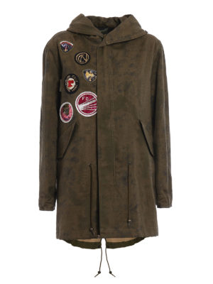 Mr & Mrs Italy: parkas - Linen blend embroidered Parka