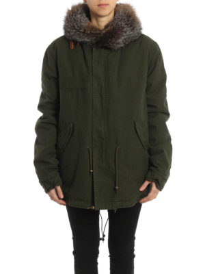 Mr & Mrs Italy: parkas online - Fox fur collar London Mini Parka