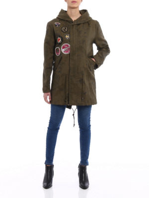 Mr & Mrs Italy: parkas online - Linen blend embroidered Parka