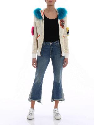 Mr & Mrs Italy: Sweatshirts & Sweaters online - Fur inserts cotton tartan hoodie