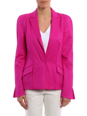 Mugler: blazers online - Techno jersey fitted blazer