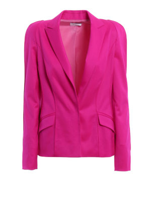 Mugler: blazers - Techno jersey fitted blazer