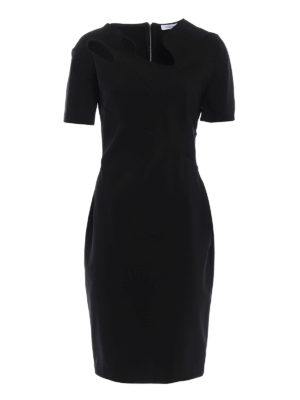 Mugler: cocktail dresses - Asymmetrical cut-out collar dress