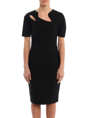 Mugler: cocktail dresses online - Asymmetrical cut-out collar dress