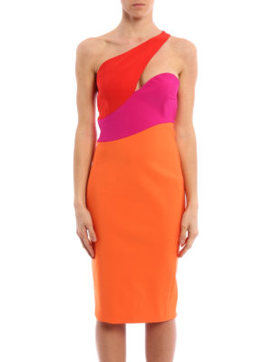 Mugler: cocktail dresses online - Techno jersey one-shoulder dress