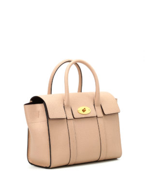 Mulberry: bowling bags online - Small Bayswater leather bowling bag