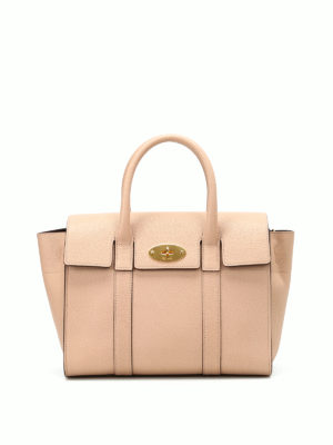 Mulberry: bowling bags - Small Bayswater leather bowling bag