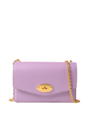 Mulberry: clutches - Darley lilac leather small clutch