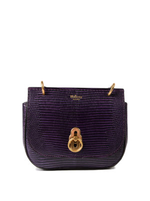 Mulberry: cross body bags - Amberley lizard print mini bag