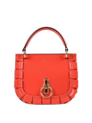 MULBERRY: borse a tracolla - Tracolla rossa Amberley S in pelle