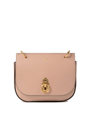 Mulberry: cross body bags - Amberley rose leather mini bag