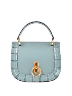 MULBERRY: borse a tracolla - Tracolla azzurra Amberley S in pelle