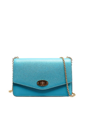9c51f814d8 MULBERRY: borse a tracolla - Tracolla Darley S azzurra. Mulberry. Darley S  light blue leather bag