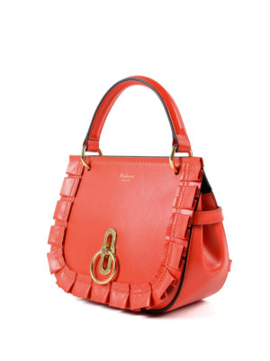 MULBERRY: borse a tracolla online - Tracolla rossa Amberley S in pelle