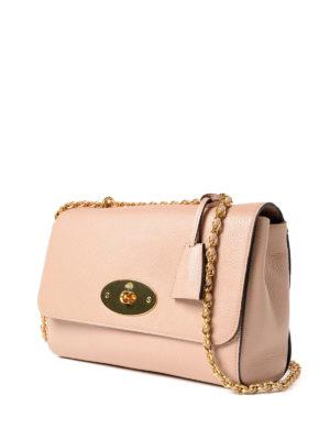 MULBERRY: borse a spalla online - Tracolla Lily rosa chiaro in pelle