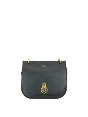 Mulberry: shoulder bags - Amberley grained leather small bag