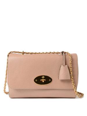 MULBERRY: borse a spalla - Tracolla Lily rosa chiaro in pelle