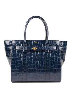 Mulberry: totes bags - Bayswater croco print leather tote