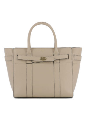Mulberry: totes bags - Bayswater grained leather shopper