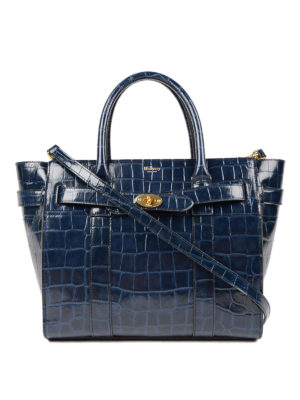 Mulberry: totes bags - Bayswater print leather small tote