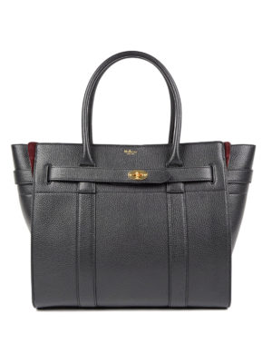 Mulberry: totes bags - Bayswater zipped leather tote