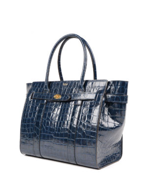 Mulberry: totes bags online - Bayswater croco print leather tote