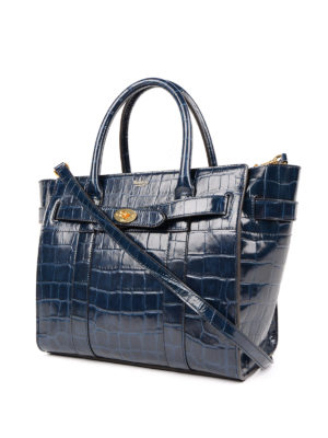 Mulberry: totes bags online - Bayswater print leather small tote
