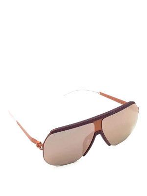 Mykita: sunglasses - Pink mask sunglasses