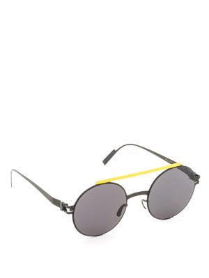 Mykita: sunglasses - Verbal black sunglasses