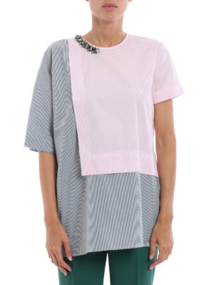 N°21: blouses online - Bicolour layered jewel blouse