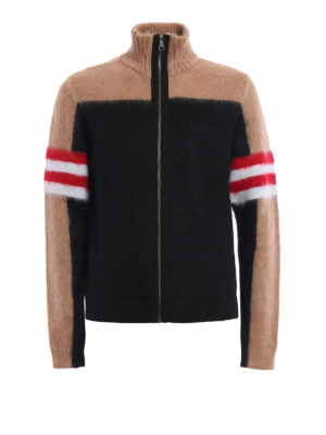 N°21: cardigans - Colour block angora blend cardigan
