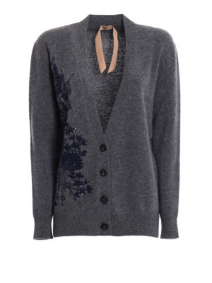 N°21: cardigans - Floral embroidery wool cardigan