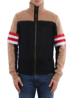 N°21: cardigans online - Colour block angora blend cardigan