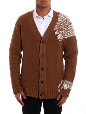 N°21: cardigans online - Fringed jacquard detail cardigan