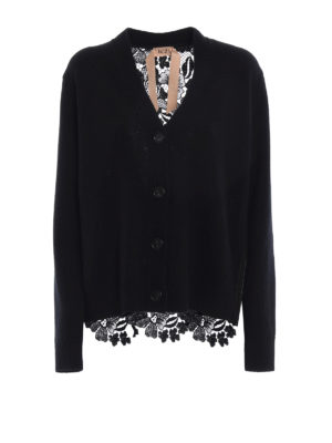 N°21: cardigans - Wool and lace over cardigan