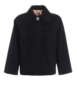 N°21: casual jackets - Jewel detailed ruched A-line jacket
