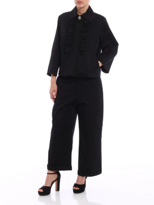 N°21: casual jackets online - Jewel detailed ruched A-line jacket